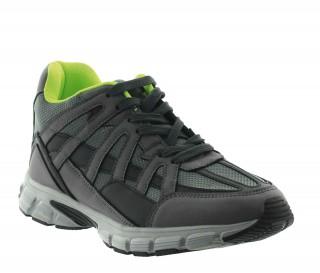 Włoskie buty podwyższające Mężczyzna - Szary - Skórzane/siatkowe  - +7 CM - Drena - Mario Bertulli