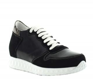 Sneakersy Lara - Czarne +7cm