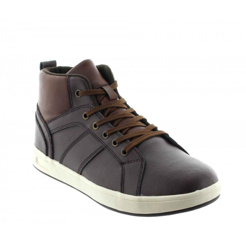 Sneakersy na obcasie Mężczyzna - Brązowy - Skóra - +6 CM - Cervo - Mario Bertulli