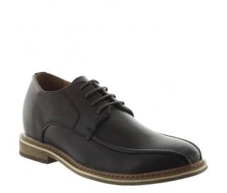 buty derby na koturnie Mężczyzna - Brązowy - Skóra - +7 CM - Osento - Mario Bertulli