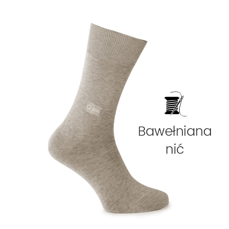 Skarpety beżowe - skarpety z nici bawełnianej Mężczyzna - Mario Bertulli specjalista obuwia podwyższającego