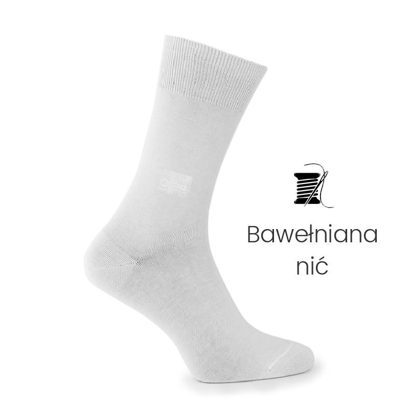 Skarpety białe - skarpety z nici bawełnianej Mężczyzna - Mario Bertulli specjalista obuwia podwyższającego