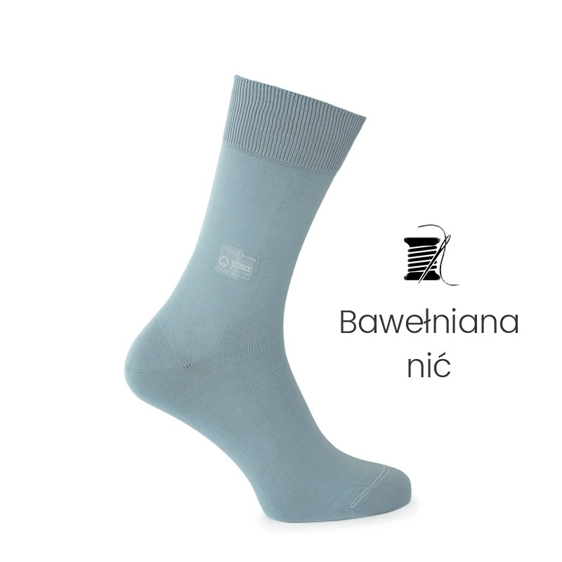 Skarpety błękitne - skarpety z nici bawełnianej Mężczyzna - Mario Bertulli specjalista obuwia podwyższającego