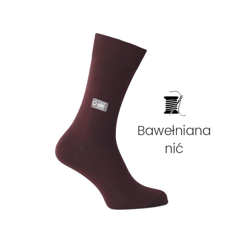 Skarpety bordowe - skarpety z nici bawełnianej Mężczyzna - Mario Bertulli specjalista obuwia podwyższającego