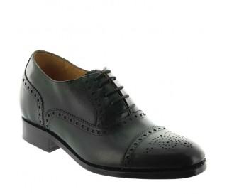 buty richelieu na koturnie Mężczyzna - Zielony - Pełnoziarnista skóra cielęca - +6 CM - Stefano - Mario Bertulli