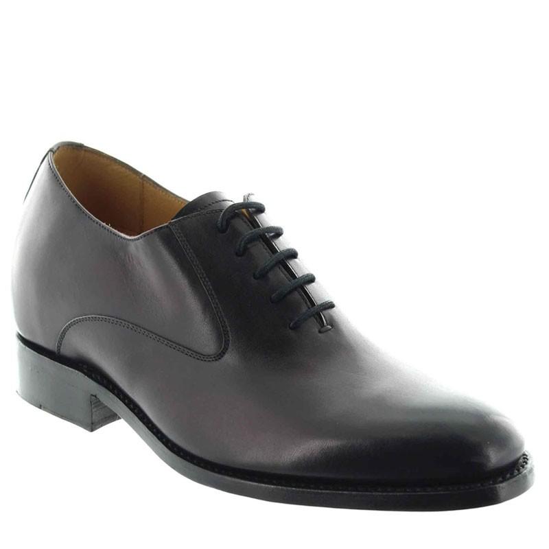 buty richelieu na koturnie Mężczyzna - Bordowy - Pełnoziarnista skóra cielęca - +6 CM - Fabiano  - Mario Bertulli