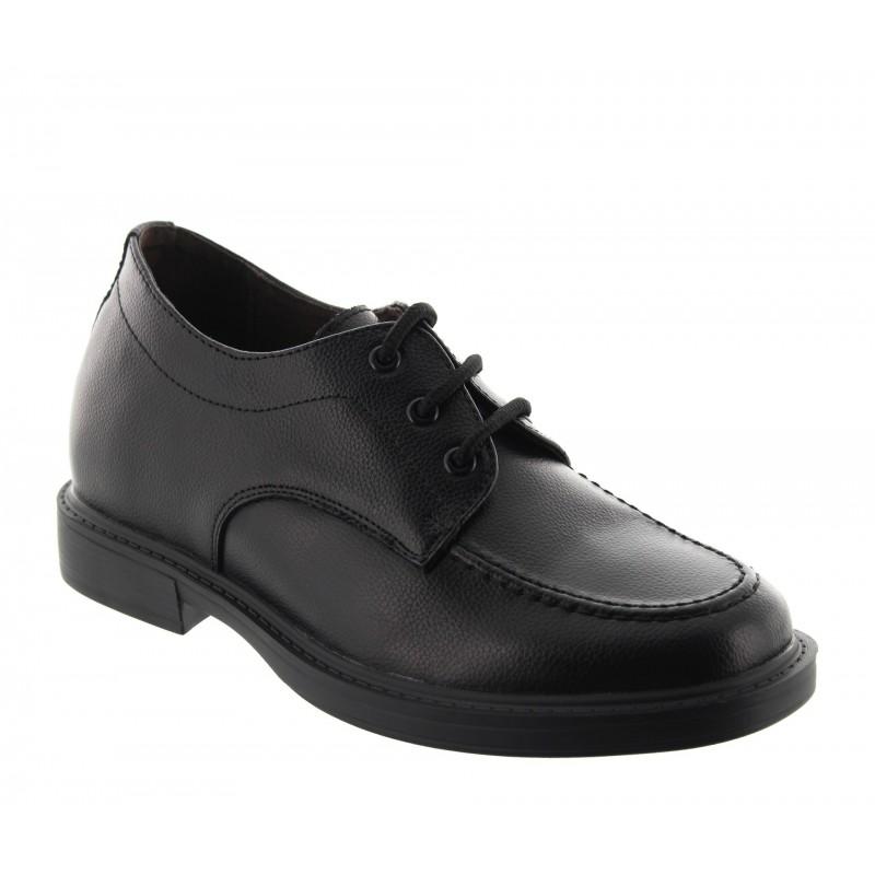 buty derby na koturnie Mężczyzna  - Czarny - Skóra - +6,5 CM - Dolomiti  - Mario Bertulli