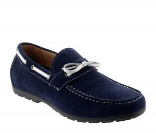 Buty Portofino niebieskie +4cm
