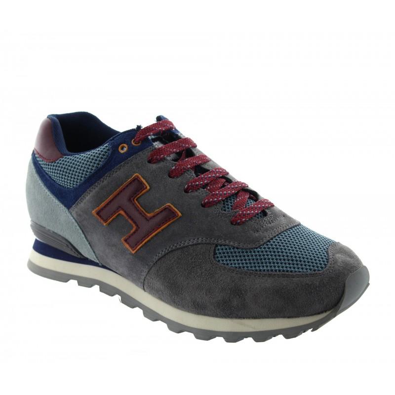 Włoskie buty podwyższające Mężczyzna - Ciemnoszary - Nubuk / włókno - +6 CM - Vernante - Mario Bertulli