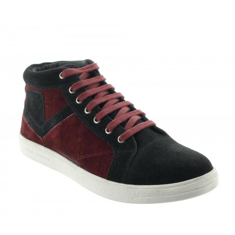 Sneakersy na obcasie Mężczyzna - Czarny - Nubuk - +5,5 CM - Badalucco - Mario Bertulli