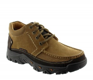 buty derby na koturnie Mężczyzna - Brązowy - Nubuk - +5,5 CM - Volpedo - Mario Bertulli