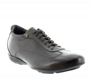 Sneakersy Podwyższające Arezzo czekoladowe +5cm
