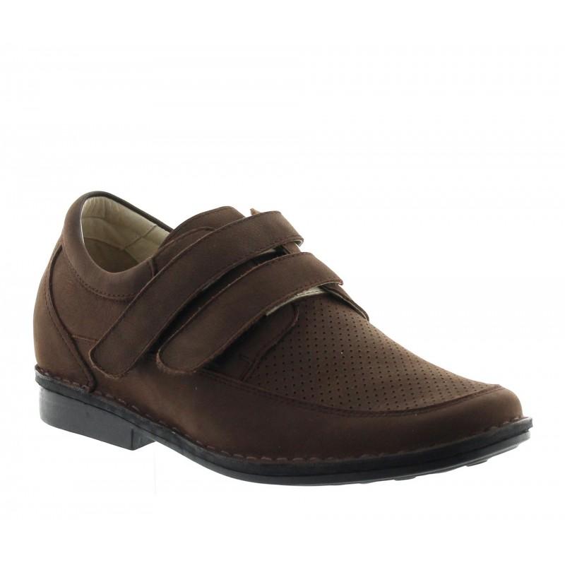 Sandały podwyższające Mężczyzna - Brązowy - Nubuk - +7 CM - Bormida - Mario Bertulli