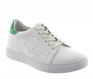 Buty Portovenere biało-zielone +5cm