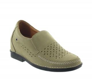 Buty Ragusa beżowe +7cm