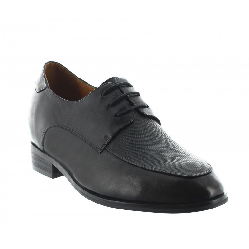 buty derby na koturnie Mężczyzna - Czarny - Skóra - +8 CM - Urbino - Mario Bertulli