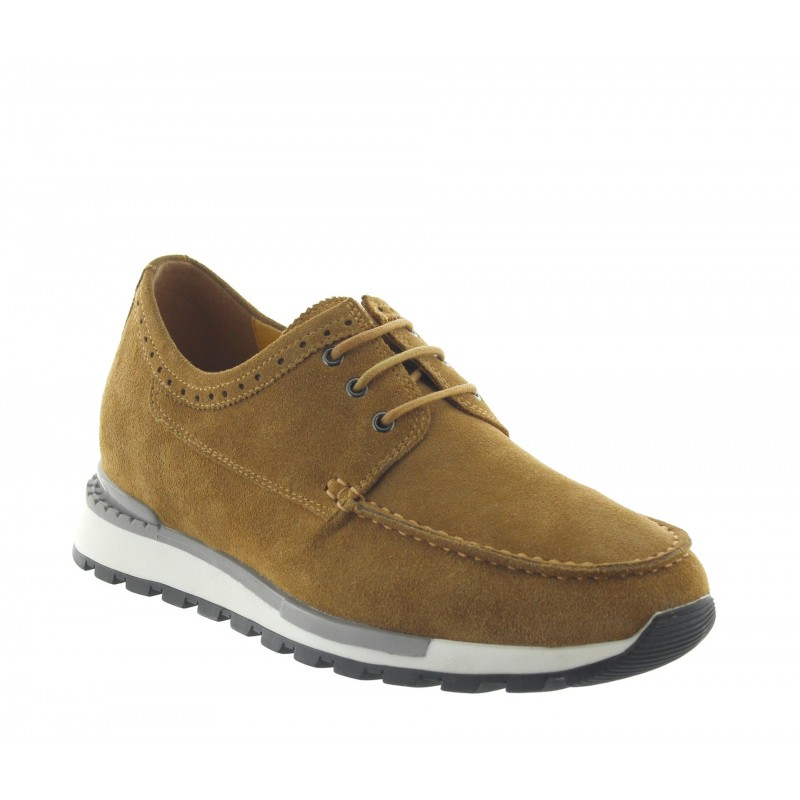 Sneakersy na obcasie Mężczyzna - Miodowy - Nubuk - +7 CM - Vernio  - Mario Bertulli