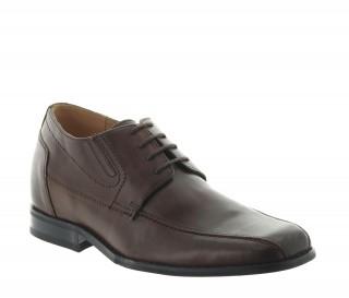 buty derby na koturnie Mężczyzna - Brązowy - Skóra - +6 CM - Sepino - Mario Bertulli