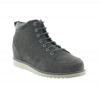Sneakersy na obcasie Mężczyzna - Jasnoszary - Nubuk - +7,5 CM - Petroio - Mario Bertulli
