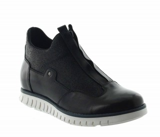 Elevator Sneakers Men - Black - Leather - +2.6'' / +6,5 CM - Moresco - Mario Bertulli
