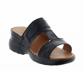 Elevator Sandals Men - Black - Leather - +2.2'' / +5,5 CM - Apricena - Mario Bertulli