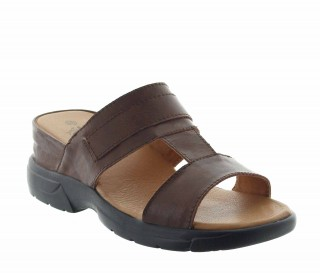 Elevator Sandals Men - Brown - Leather - +2.2'' / +5,5 CM - Apricena - Mario Bertulli