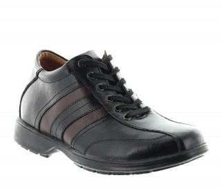 Elevator Sneakers Men - Black - Leather - +2.8'' / +7 CM - Ferrara - Mario Bertulli