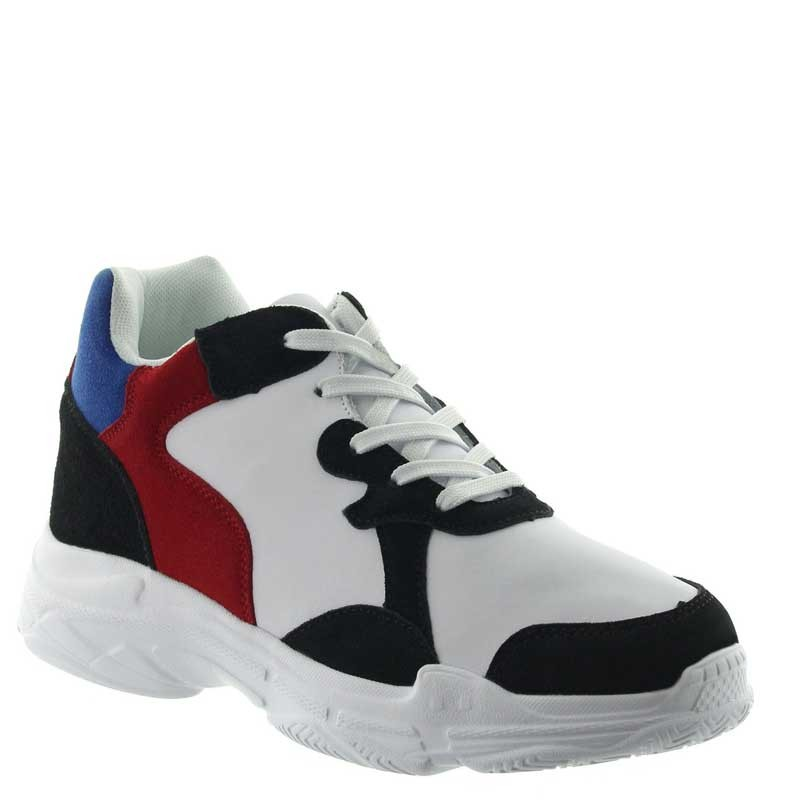 Elevator Sports Shoes Men - White - Nubuk / Leather - +2.8'' / +7 CM - Pienza - Mario Bertulli