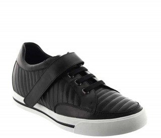 Elevator Sneakers Men - Black - Leather - +2.4'' / +6 CM - Toirano - Mario Bertulli