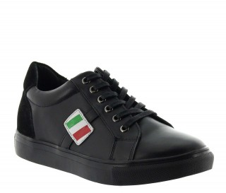 Elevator Sports Shoes Men - Black - Leather - +2.0'' / +5 CM - Rocchetta - Mario Bertulli