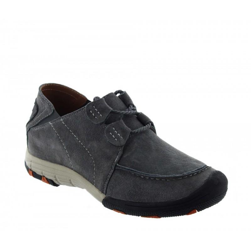 Elevator Sports Shoes Men - Light grey - Nubuk - +2.0'' / +5 CM - Courmayeur - Mario Bertulli