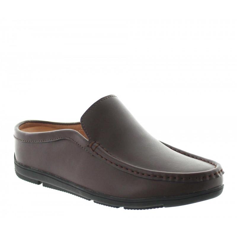 Elevator Sandals Men - Brown - Leather - +2.2'' / +5,5 CM - Malpensa - Mario Bertulli
