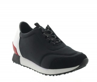 Elevator Sports Shoes Men - Black - Textil/nubuck/leather - +2.8'' / +7 CM - Desio - Mario Bertulli