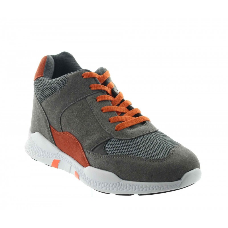 Elevator Sports Shoes Men - Grey - Nubuck/mesh - +2.8'' / +7 CM - Vieste - Mario Bertulli