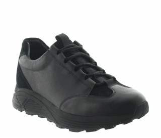Elevator Sneakers Men - Black - Leather/nubuck - +2.8'' / +7 CM - Brunico - Mario Bertulli