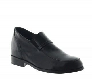 Elevator Loafers Men - Black - Leather - +2.8'' / +7 CM - Aramo - Mario Bertulli