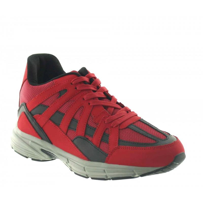 Elevator Sports Shoes Men - Red - Leather/mesh - +2.8'' / +7 CM - Drena - Mario Bertulli