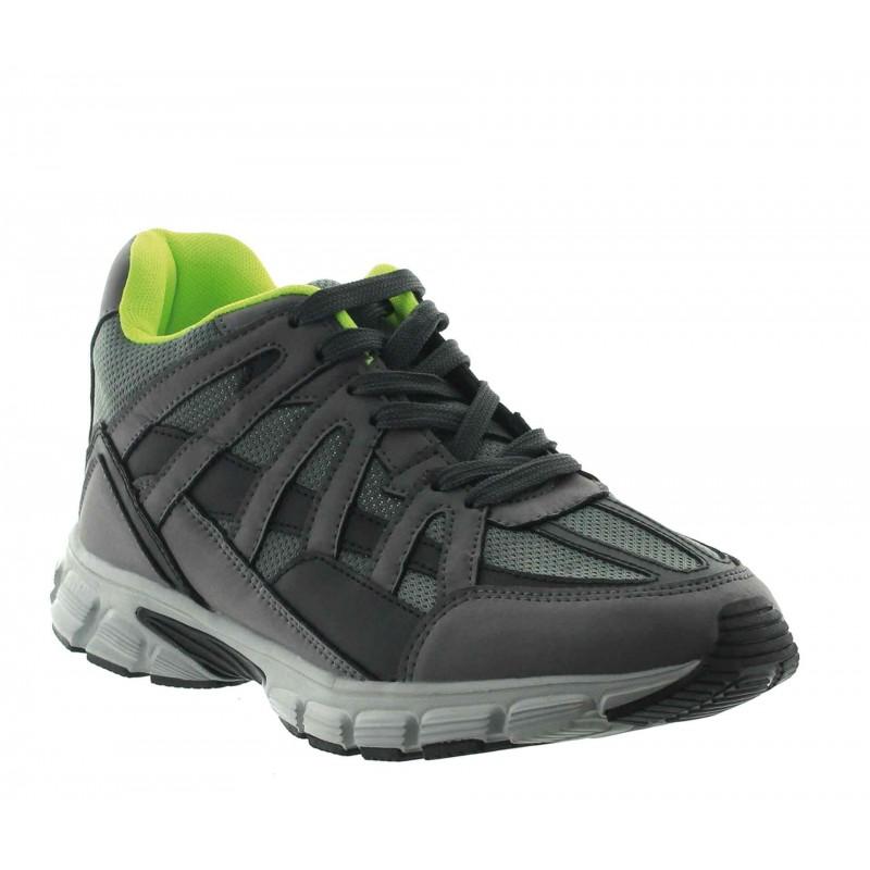 Elevator Sports Shoes Men - Grey - Leather/mesh - +2.8'' / +7 CM - Drena - Mario Bertulli