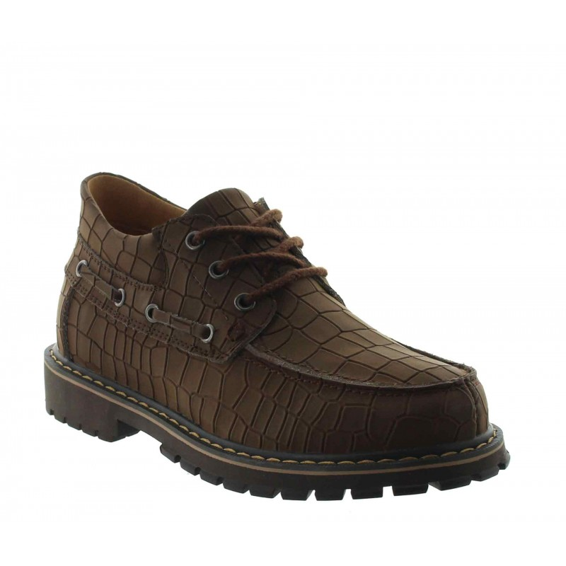 Giustino height increasing shoes brown +6.5cm