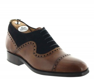 Elevator Oxfords Shoes Men - Toffee - Full grain calf leather - +2.4'' / +6 CM - Donatello - Mario Bertulli