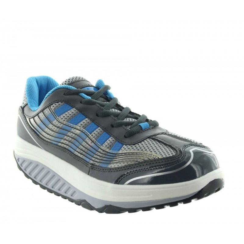 Elevator Sports Shoes Lady - Blue - Leather - +2.0'' / +5 CM - Mara - Mario Bertulli
