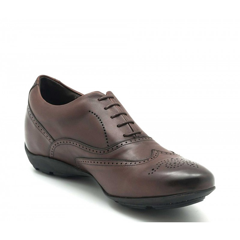 Elevator Sneakers Men - Brown - Full grain calf leather - +2.0'' / +5 CM - Belluno - Mario Bertulli