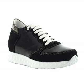 Lara height increasing sneaker black +7cm