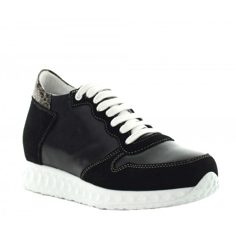 Lara height increasing sneaker black +7cm
