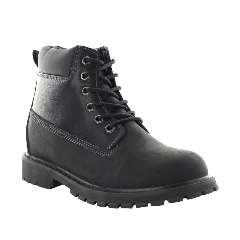 Elevator Boots Men - Black - Leather/nubuck - +3.0'' / +7,5 CM - Fornace - Mario Bertulli