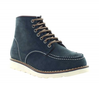 Elevator Boots Men - Navy blue - Leather - +3.0'' / +7,5 CM - Isera - Mario Bertulli