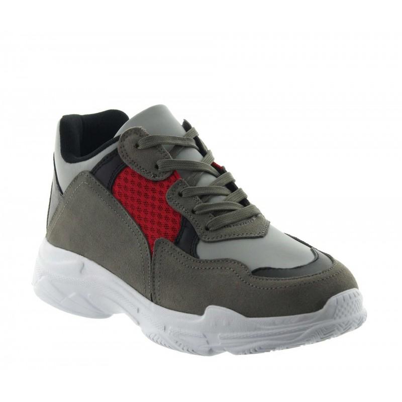 Siria sportshoes grey +7cm