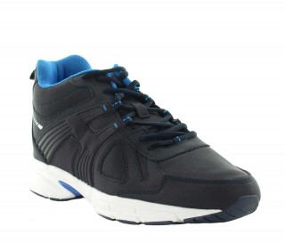 Elevator Sports Shoes Men - Navy blue - Leather - +3.0'' / +7,5 CM - Carisolo - Mario Bertulli
