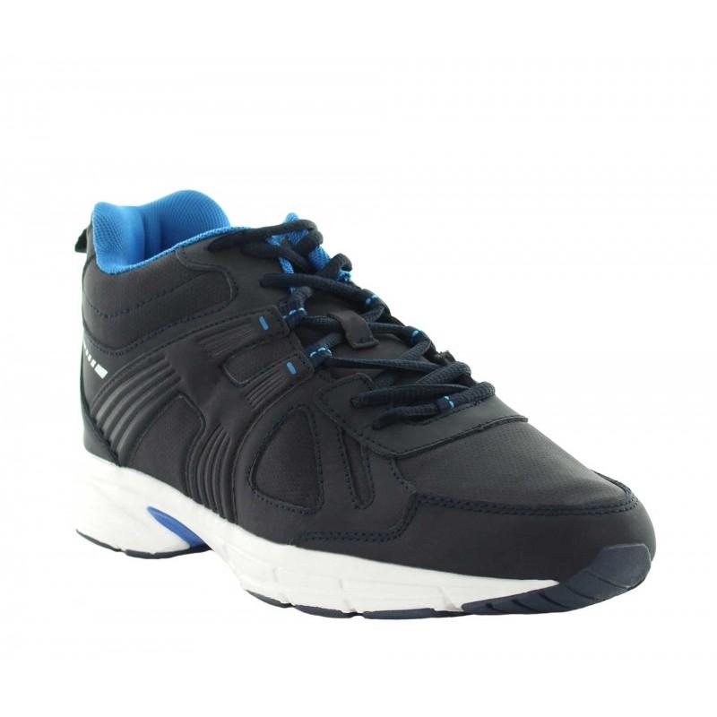 Elevator Sports Shoes Men - Navy blue - Leather - +3.0'' / +7,5 CM - Carisolo - Mario Bertulli