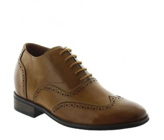 Elevator Oxfords Shoes Men - Cinnamon - Leather - +2.8'' / +7 CM - Lucera - Mario Bertulli